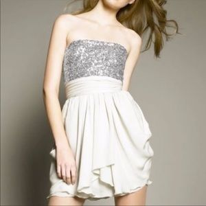 Alice + Olivia Maggie Sequined Georgette Dress